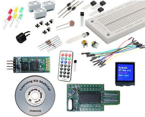 PicDevUSB Learning Kit Material